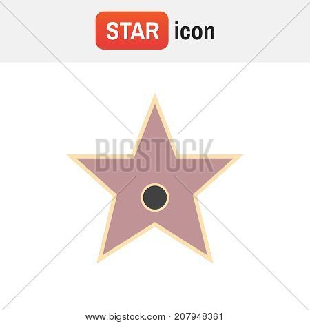 Star Hollywood Vector. Star Award Vector Illustration For Famous People