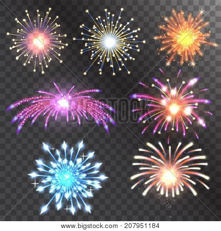 Firework vector icon isolated illustration celebration holiday event night fire festival explosion light festive party fun birthday bright
