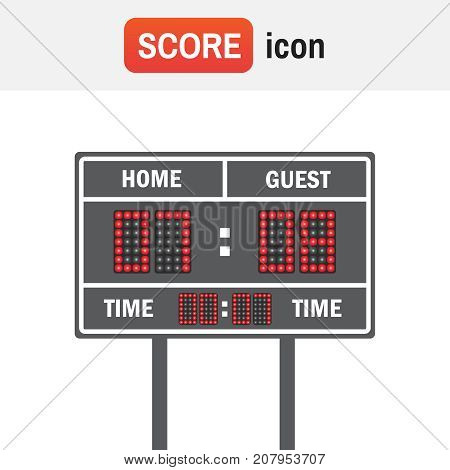 Scoreboard Football American. American Football Vector Scoreboard. Sport Football, Scoreboard Americ