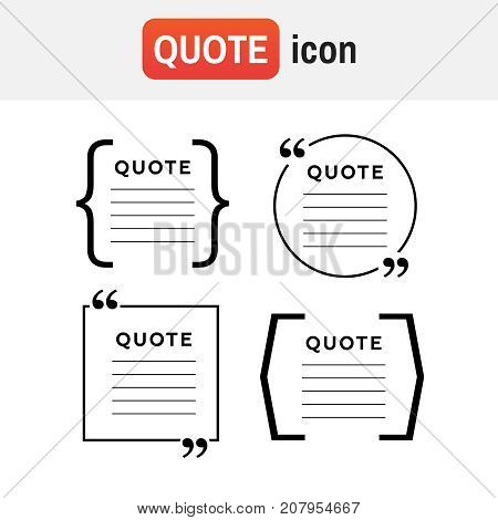 Quote Bubble Review. Quote Comment Template Vector