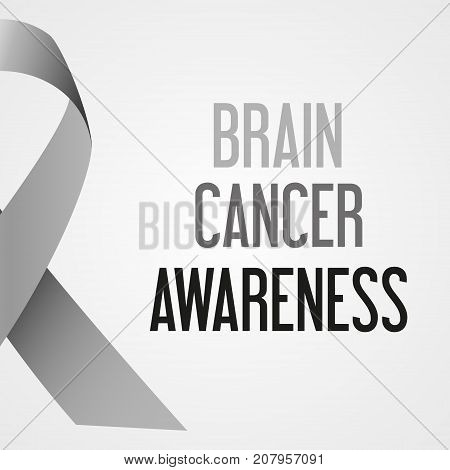 World Brain Cancer Day Awareness Poster Eps10