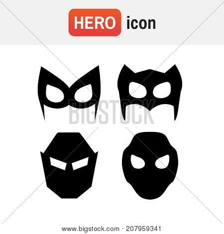 Hero Mask Vector. Super Hero Masks Vector Illustration Set