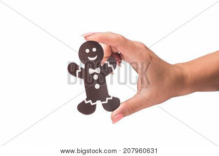 Decorated Icon Of Cookie Man Isolated