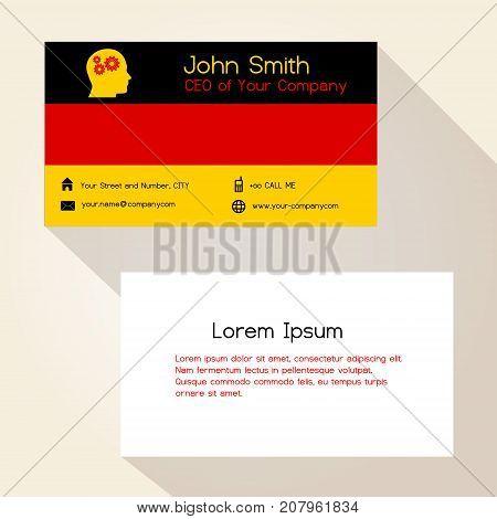 Germany Flag Color Business Card Design Eps10