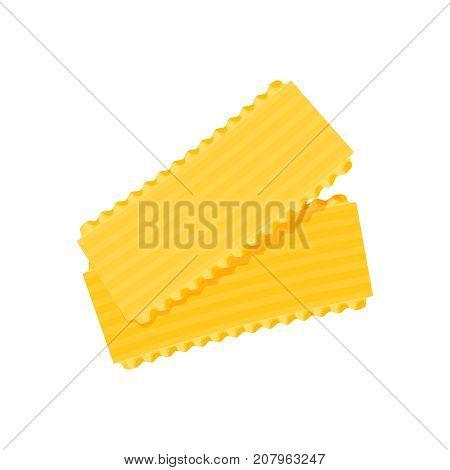 Italian cuisine. Pasta lasagna. Vector illustration cartoon flat icon isolated on white.