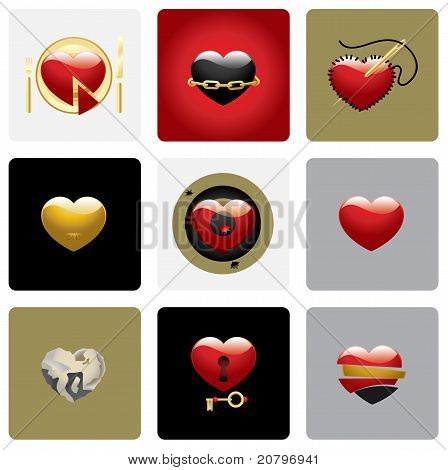 Vector Hearts Set Two