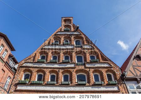 Facade Of A Historic House In Luneburg