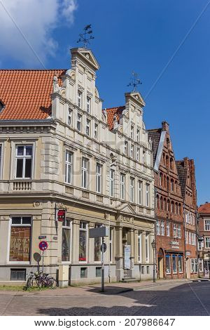 LUNEBURG, GERMANY - MAY 21, 2017: Historic house in the old town of Luneburg Germany
