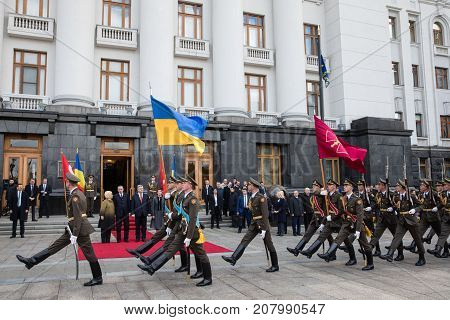 Welcoming Ceremony Of Turkish President Recep Tayyip Erdogan In Kiev