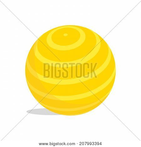 Yellow Kids Ball Vector Illustration. Isolated On White