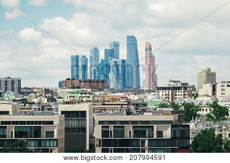 Moscow city Moscow International Business Center Moscow-city, Russia. Moscow International Business Center.