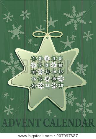 Christmas background with Advent calendar - vector illustration