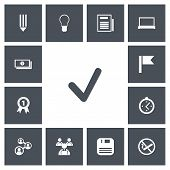 Set Of 13 Editable Bureau Icons. Includes Symbols Such As Pennant, Diskette, Staff And More poster