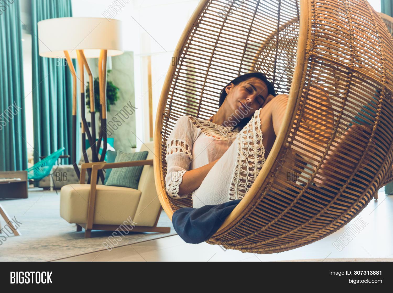 Woman Sleeping Swing Image Photo Free Trial Stock