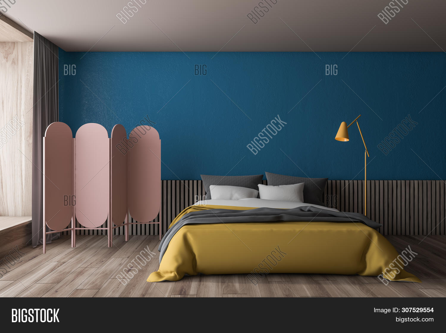 Blue Wooden Bedroom Image Photo Free Trial Bigstock