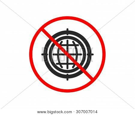 No Or Stop. Seo Target Icon. Search Engine Optimization Sign. Internet Symbol. Prohibited Ban Stop S