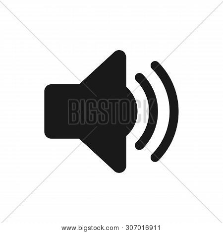 Sound Icon. Sound Icon Vector. Flat Style Isolated On White Background. Sound Icon Image. Sound Icon