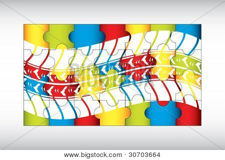 Special Puzzle With Tire Design