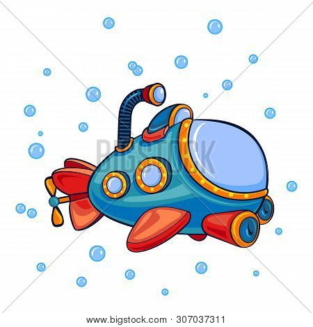 Submarine Periscope Icon. Cartoon Of Submarine Periscope Vector Icon For Web Design Isolated On Whit