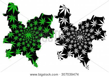 Kirov Oblast (russia, Subjects Of The Russian Federation, Oblasts Of Russia) Map Is Designed Cannabi