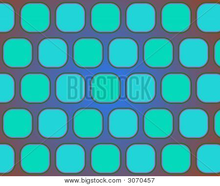 Op Art Rounded Squares In Blue And Red