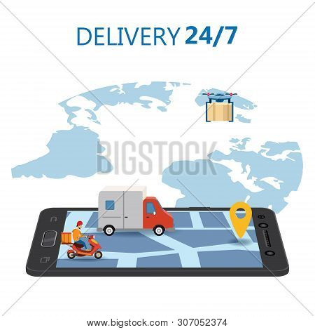 Online Delivery Vector & Photo (Free Trial) | Bigstock
