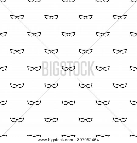 Astigmatic Eyeglasses Pattern Seamless Vector Repeat Geometric For Any Web Design