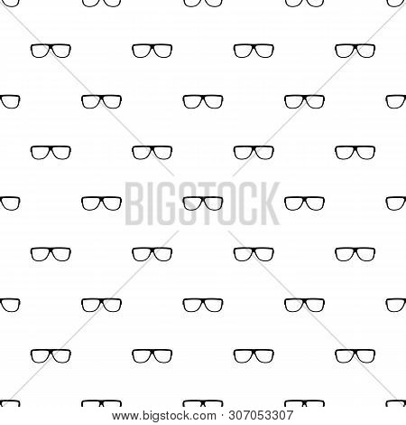 Eyeglasses Without Diopters Pattern Seamless Vector Repeat Geometric For Any Web Design