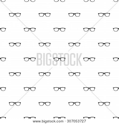 Spectacles With Diopters Pattern Seamless Vector Repeat Geometric For Any Web Design