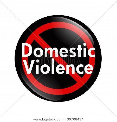 No Domestic Violence Button