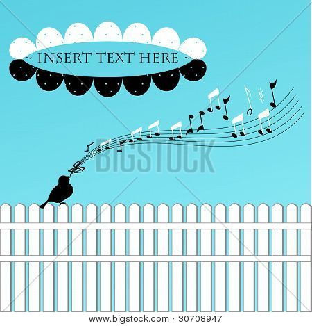 Bird On A Fence Card