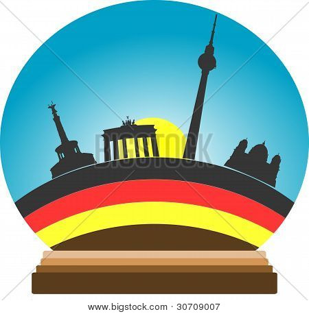 Berlin Snow-globe Isolated