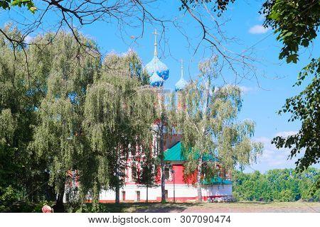 Uglich, Russia - June, 10, 2019: Dmitry's church on blood in Uglich, Russia