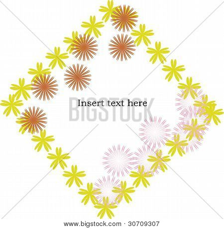 Flowers Frame With Space For Text