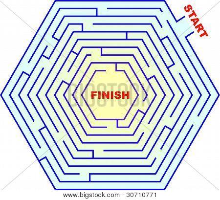 Hexagonal Maze - Labyrinth