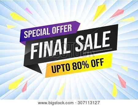 Special Offer Final Sale Tag. Banner Design Template For Marketing. Special Offer Promotion Or Retai