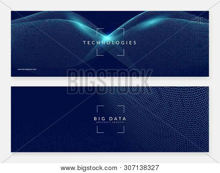 Abstract Digital Background. Artificial Intelligence, Deep Learning And Big Data Concept. Quantum Te