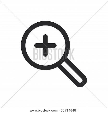Zoom In Icon Isolated On White Background. Zoom In Icon In Trendy Design Style For Web Site And Mobi