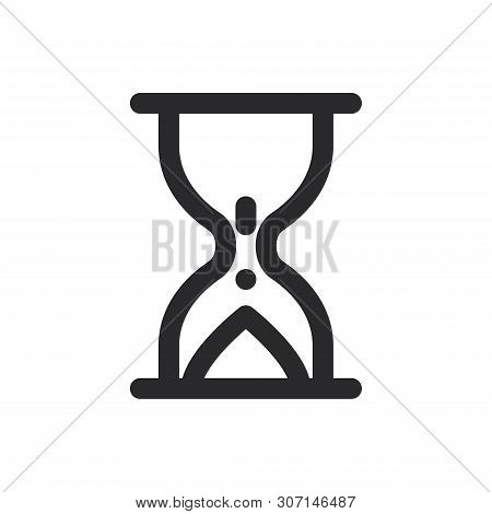 Waiting Icon Isolated On White Background. Waiting Icon In Trendy Design Style For Web Site And Mobi