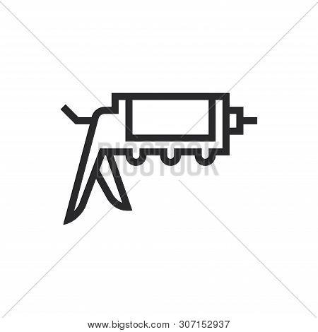 Caulk Gun Icon Isolated On White Background. Caulk Gun Icon In Trendy Design Style For Web Site And