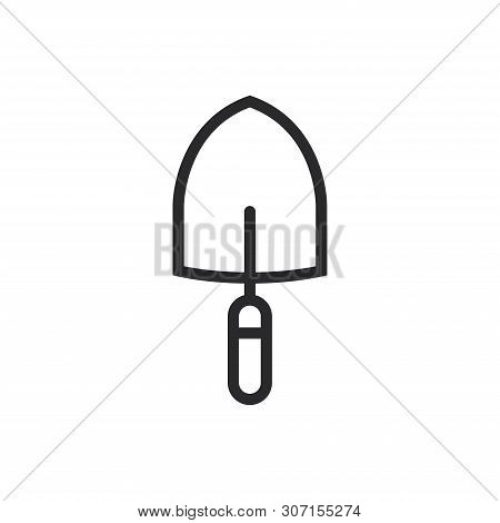 Shovel Icon Isolated On White Background. Shovel Icon In Trendy Design Style For Web Site And Mobile