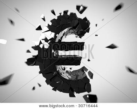 Broken euro sign