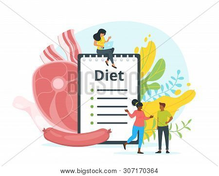 All-meat Diet Plan Vector Web Banner Template. Carnivore, Zero Carb Dishes Recipes Book. Animal Prod