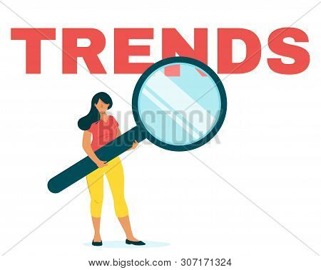 Marketer Analyzing Internet Trends Flat Web Banner Template. Smm, Seo, Market Future Tendency Foreca