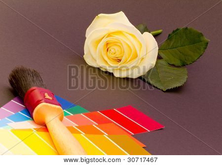 Painting A White Rose