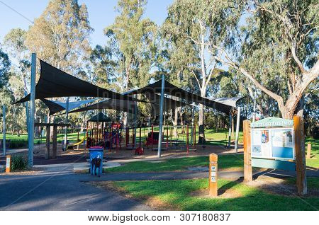 Melbourne, Australia - July 14, 2018: Large Playground At Ruffey Lake Park In The Outer Eastern Subu