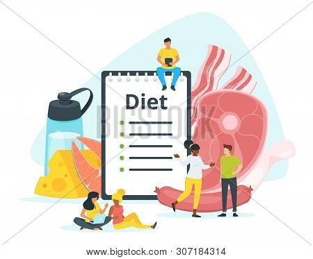 All-meat, Carnivore Diet Plan Vector Web Banner Template. Zero Carb Dishes Ingredients. Animal, Dair