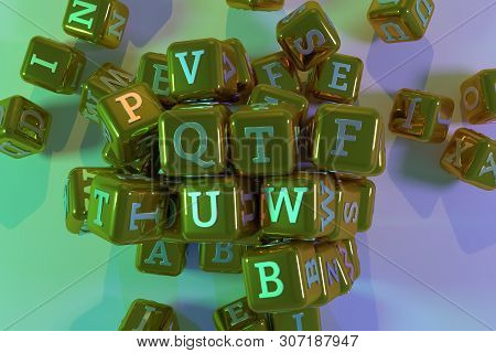 Decorative, Illustrations Cgi Geometric, Bunch Of Abc Character Symbol Or Sign, For Design Texture B