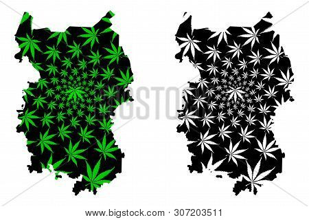 Omsk Oblast (russia, Subjects Of The Russian Federation, Oblasts Of Russia) Map Is Designed Cannabis