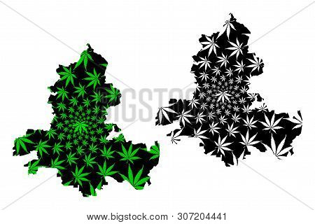 Rostov Oblast (russia, Subjects Of The Russian Federation, Oblasts Of Russia) Map Is Designed Cannab